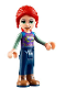 Minifig No: frnd342  Name: Friends Mia, Dark Blue Trousers, Patterned Top