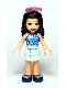 Minifig No: frnd366  Name: Friends Emma, Light Aqua Skirt, Blue Swimsuit Top, Sunglasses
