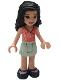 Minifig No: frnd374  Name: Friends Emma, Light Aqua Skirt, Coral Wrap Top, Dark Blue Shoes