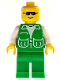 Minifig No: game002  Name: Jacket Green with 2 Large Pockets - Sunglasses, Green Legs, No Headgear (Green Cruiser)