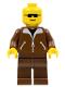 Minifig No: game003  Name: Jacket Brown - Brown Legs, No Headgear (Brown Cruiser)