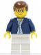 Minifig No: game007  Name: Dark Blue Jacket, Light Blue Shirt, White Legs, Square Glasses, Brown Male Hair
