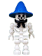 Minifig No: gen005  Name: Skeleton with Standard Skull, Blue Wizard / Witch Hat and Black Bandana (Boney)