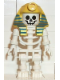 Minifig No: gen006  Name: Skeleton with Standard Skull, Yellow Mummy Headdress with Pattern