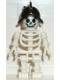 Minifig No: gen011  Name: Skeleton with Standard Skull, Black Conquistador Helmet