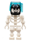 Minifig No: gen016  Name: Skeleton with Evil Skull, Black Aquaraiders II Helmet (Squid Victim)