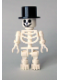 Minifig No: gen027  Name: Skeleton with Standard Skull, Top Hat