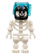Minifig No: gen031  Name: Skeleton with Standard Skull, Black Aquaraiders II Helmet