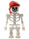Minifig No: gen036  Name: Skeleton, Fantasy Era Torso with Standard Skull, Mechanical Arms, Red Bandana