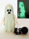Minifig No: gen044  Name: Ghost with Pointed Top Shroud and Ball and Chain