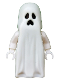 Minifig No: gen046  Name: Ghost with Pointed Top Shroud with 1x2 Plate and 1x2 Brick as Legs