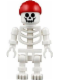 Minifig No: gen067  Name: Skeleton with Standard Skull, Red Rounded Top Bandana
