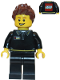 Minifig No: gen090  Name: Lego Store Employee, Male, Black Shirt