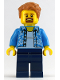 Minifig No: gen105  Name: Lego Store Customer with Hawaiian Shirt