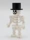 Minifig No: gen147  Name: Skeleton with Standard Skull, Black Top Hat