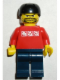 Minifig No: gg001  Name: Skateboarder, Red Shirt with Silver Logos, Dark Blue Legs