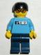 Minifig No: gg004  Name: Skateboarder, Medium Blue Shirt, Dark Blue Legs