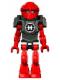 Minifig No: hf003  Name: Hero Factory Mini - Furno - Bright Light Blue Head