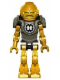 Minifig No: hf004  Name: Hero Factory Mini - Rocka - Pearl Dark Gray Armor