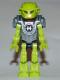 Minifig No: hf005  Name: Hero Factory Mini - Breez - Flat Silver Armor