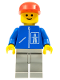 Minifig No: hgh001  Name: Highway Pattern - Light Gray Legs, Red Cap