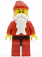 Minifig No: hol012  Name: Santa, Red Legs with Black Hips, Freckles
