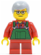 Minifig No: hol033  Name: Overalls Farmer Green, Short Red Legs, Glasses (Boy)