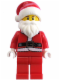 Minifig No: hol036  Name: Santa, Red Legs, Fur Lined Jacket, Brown Eyebrows
