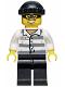Minifig No: hol041  Name: Police - Jail Prisoner 86753 Prison Stripes, Black Knit Cap, Mask