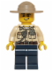 Minifig No: hol061  Name: Swamp Police - Officer, Shirt, Dark Tan Hat, Lopsided Grin