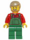 Minifig No: hol067  Name: Overalls Farmer Green, Dark Tan Hair and Beard