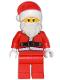 Minifig No: hol082  Name: Santa, Red Legs, Fur Lined Jacket, White Eyebrows, Wrinkles
