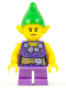 Minifig No: hol085  Name: Elf - Female, Dark Purple Top