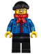 Minifig No: hol090  Name: Winter Holiday Train Station Bus Driver