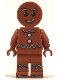 Minifig No: hol115  Name: Gingerbread Man - Dark Orange