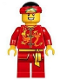 Minifig No: hol134  Name: Dragon Dance Performer, Tied Red Bandana, Open Mouth Smile with Teeth
