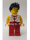 Minifig No: hol151  Name: Dragon Boat Race Team Red/White Member 5