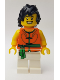 Minifig No: hol153  Name: Dragon Boat Race Team Green/Orange Member 1