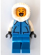 Minifig No: hol162  Name: Sweeper - Medium Blue Jacket with Pockets, Fur-Lined Hood