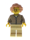 Minifig No: hol165  Name: Grandmother - Dark Tan Fair Isle Sweater, Flesh Hair, Glasses