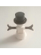 Minifig No: hol170  Name: Snowman with 2 x 2 Truncated Cone as Legs