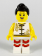 Minifig No: hol177  Name: Woman, Lion Dance, White Shirt, White Legs with Red Fringe