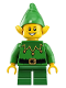 Minifig No: hol204  Name: Elf - Green Scalloped Collar with Bells, Freckles