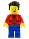 Minifig No: hol225  Name: Father, Red Shirt, Blue Legs, Black Hair