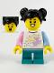 Minifig No: hol232  Name: Child Girl, Unicorn Shirt, Dark Turquoise Short Legs, Black Hair