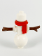 Minifig No: hol234  Name: Snowman - Red Scarf, No Hat