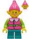 Minifig No: hol235a  Name: Pink Elf - Dark Turquoise Legs