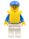 Minifig No: hor023  Name: Horizontal Lines Blue - Blue Arms - White Legs, Blue Cap, Life Jacket