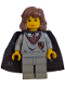 Minifig No: hp002  Name: Hermione Granger, Gryffindor Shield Torso, Light Gray Legs, Black Cape with Stars