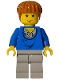 Minifig No: hp006  Name: Ron Weasley, Blue Sweater